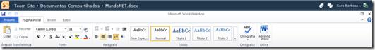 Figura 3 – Recursos para edição Web Apps
