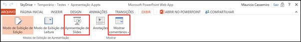 Guia Exibir PowerPoint Web App