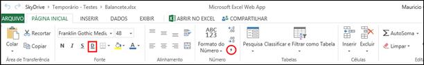 Guia Pagina Inicial Excel Web App