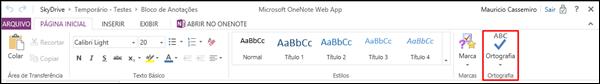 Guia Pagina Inicial OneNote Web App