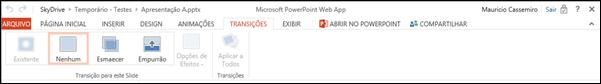 Guia Transicoes PowerPoint Web App