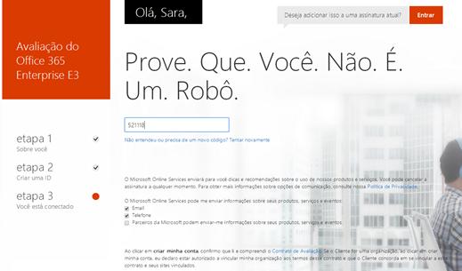 Trial Office 365 – Nova Interface (4/6)