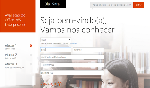 Trial Office 365 – Nova Interface (1/6)