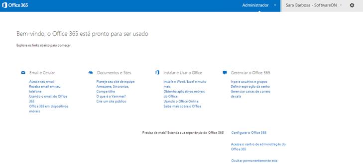 Configurar Página Inicial – Office 365 (1/3)