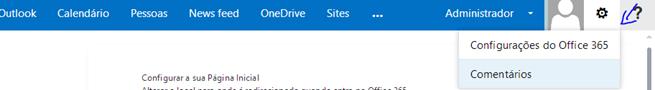 Configurar Página Inicial – Office 365 (2/3)