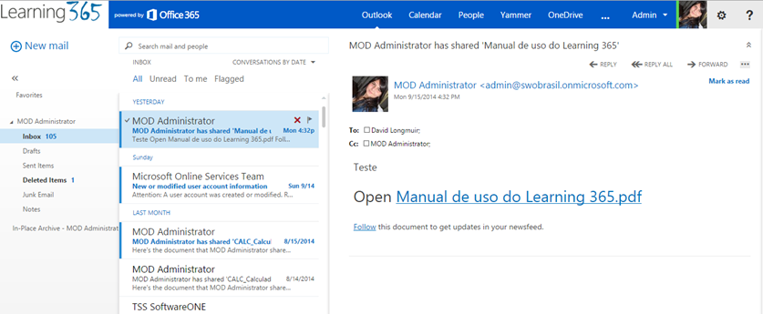 Alterar logotipo Office 365 (1/4)