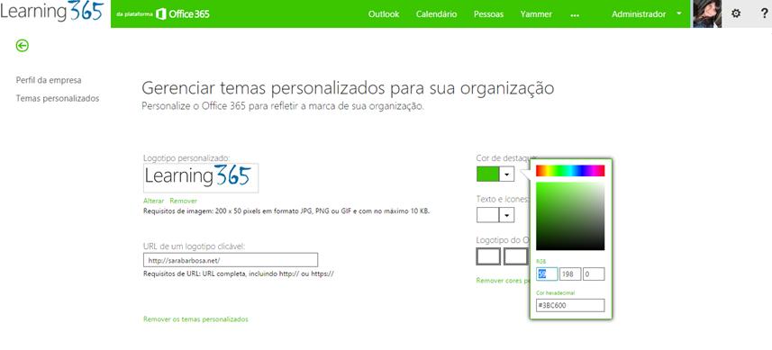 Alterar logotipo Office 365 (4/4)